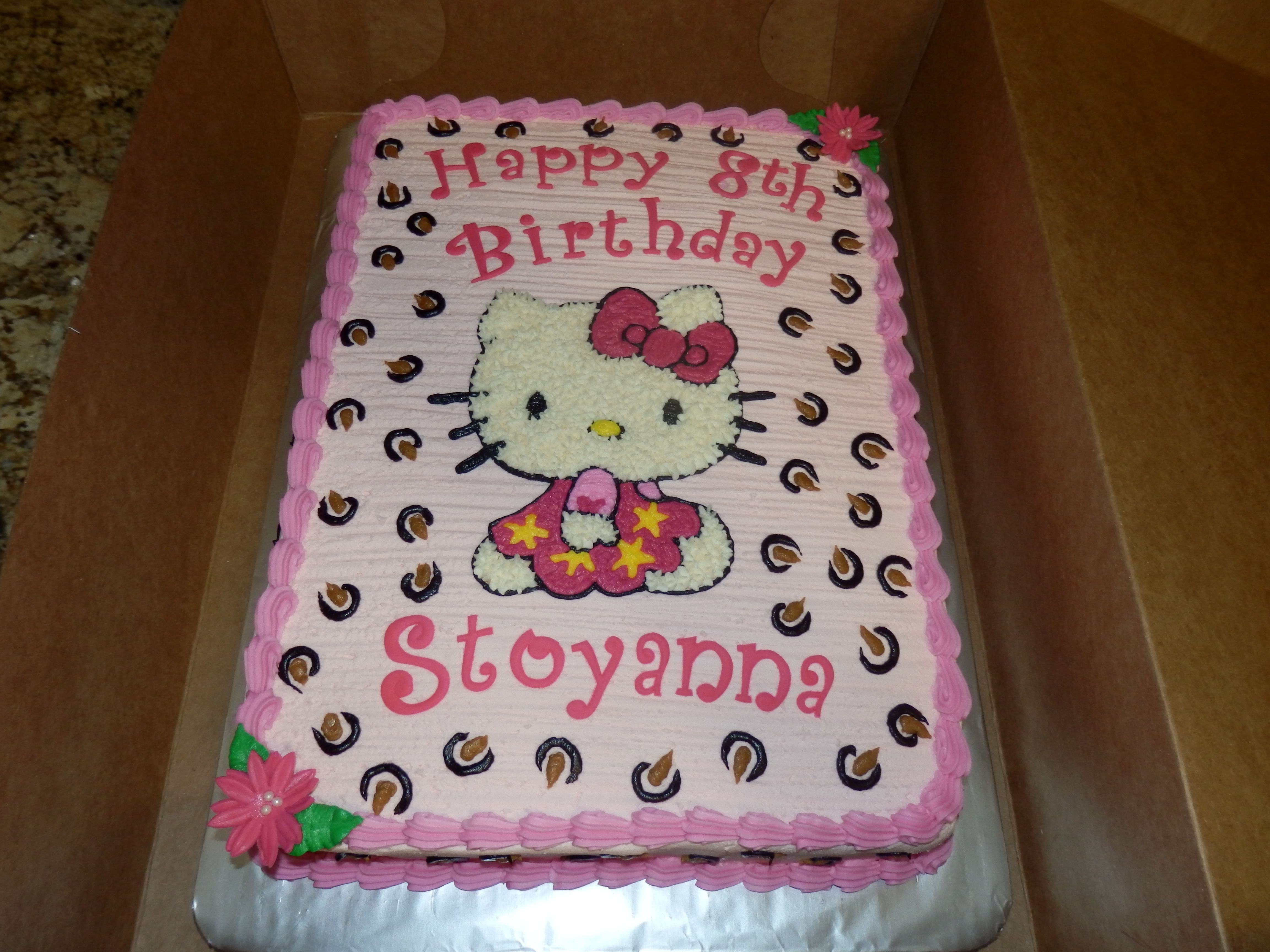 hello kitty sheet cake Hello Kitty half sheet Birthday Cake Cake