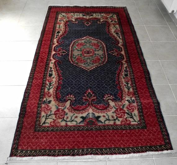 Best Turkish Oushak Kilim Rug 4X7 Oriental Handknotted Low 400 x 300