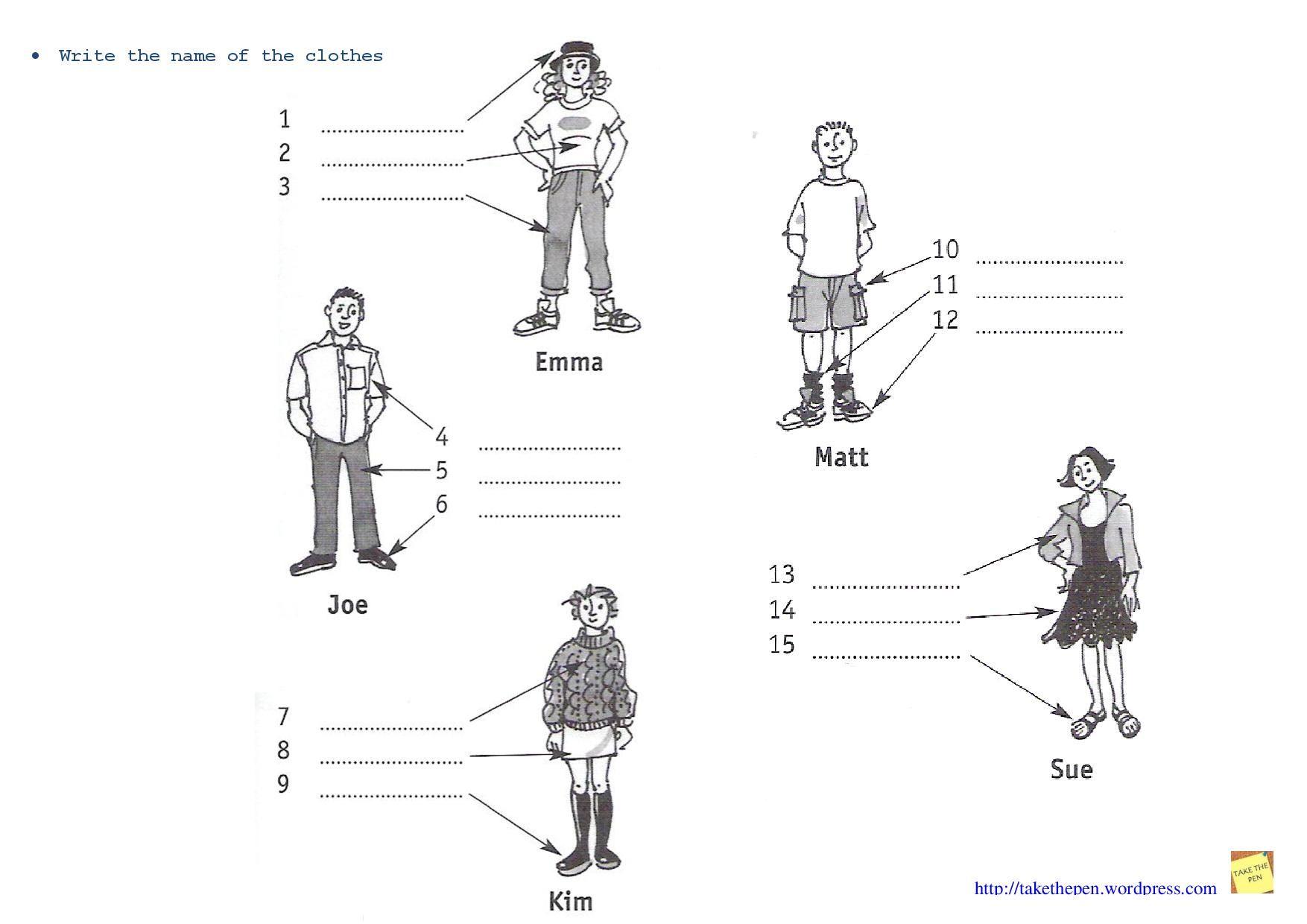 Resultado De Imagem Para Fichas Clothes Ingles
