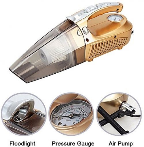 Portable Car Vacuum Cleaner Handheld Auto 4 In 1 Wet Dry Golden Design Comfort Ideashop