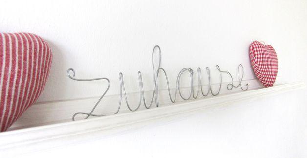 Schriftzug ZUHAUSE ☆ Draht Schrift | Basteln | Pinterest | 3d pen