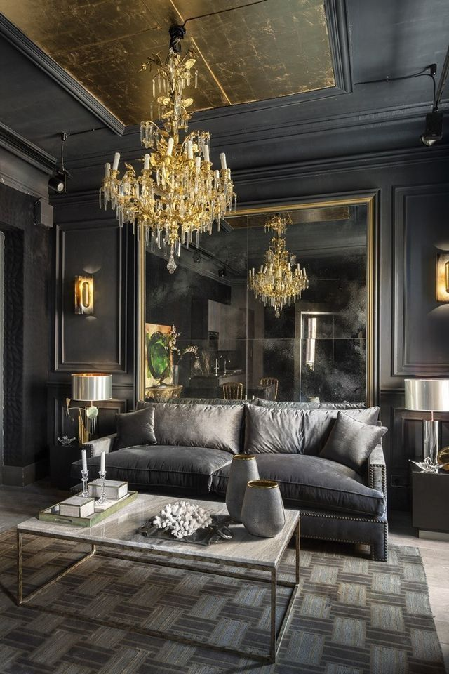 Coveted S Interview With Gabriel Bautista Antro Design In 2020 Contemporary House Black Gold Decor Luxury Home Decor