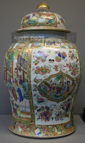 A large Chinese Cantonese temple jar (China)