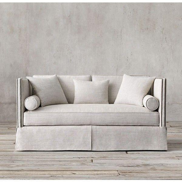 6u0027 Morrison Sofa (u20ac2.970) ❤ Liked On Polyvore Featuring Home, Furniture,  Sofas, Nailhead Furniture, Restoration Hardware Sofa, Highback Sofa,  Nailhead Sofa ...