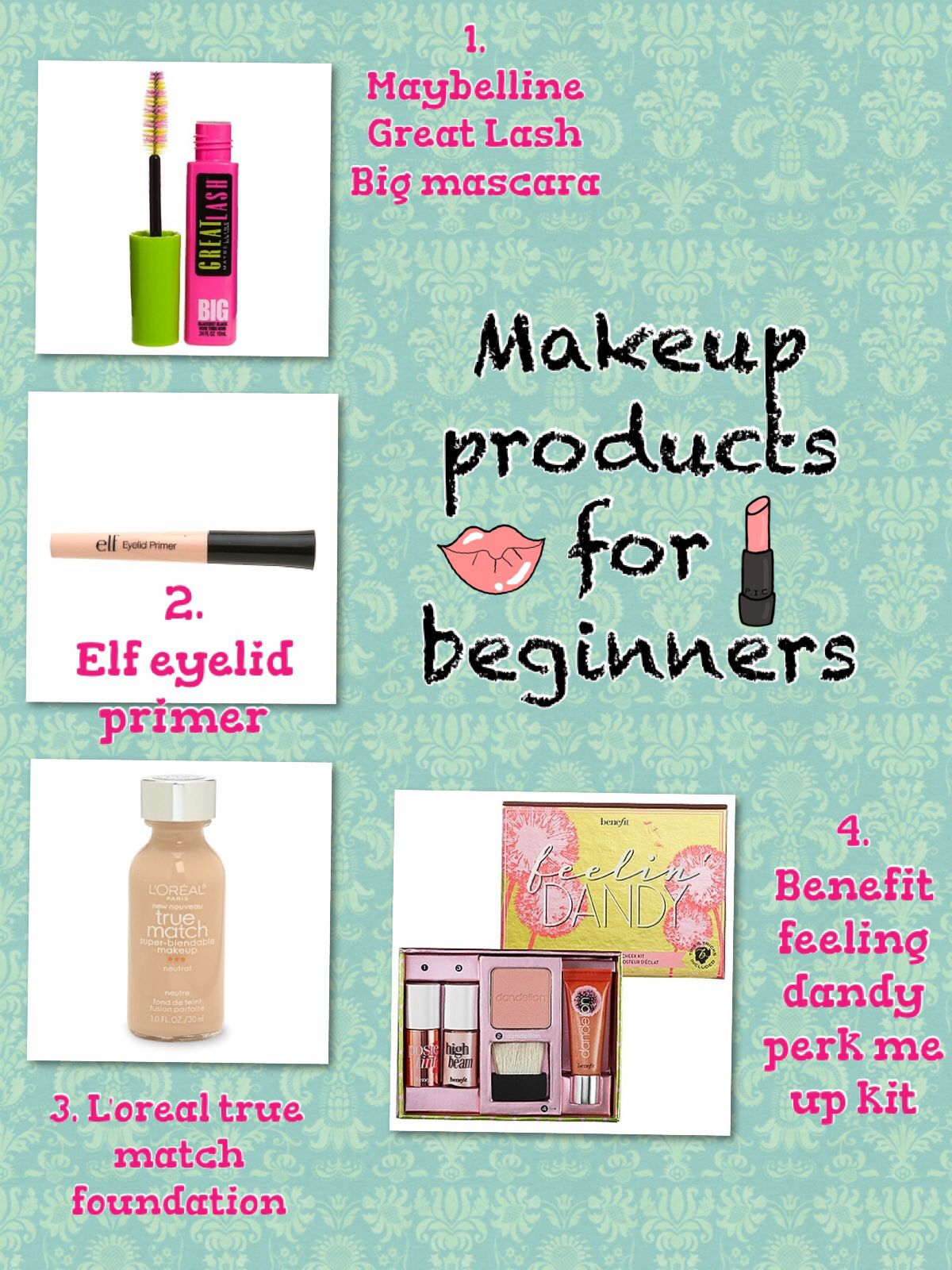 Great products for beginners at makeup mostly drugstore