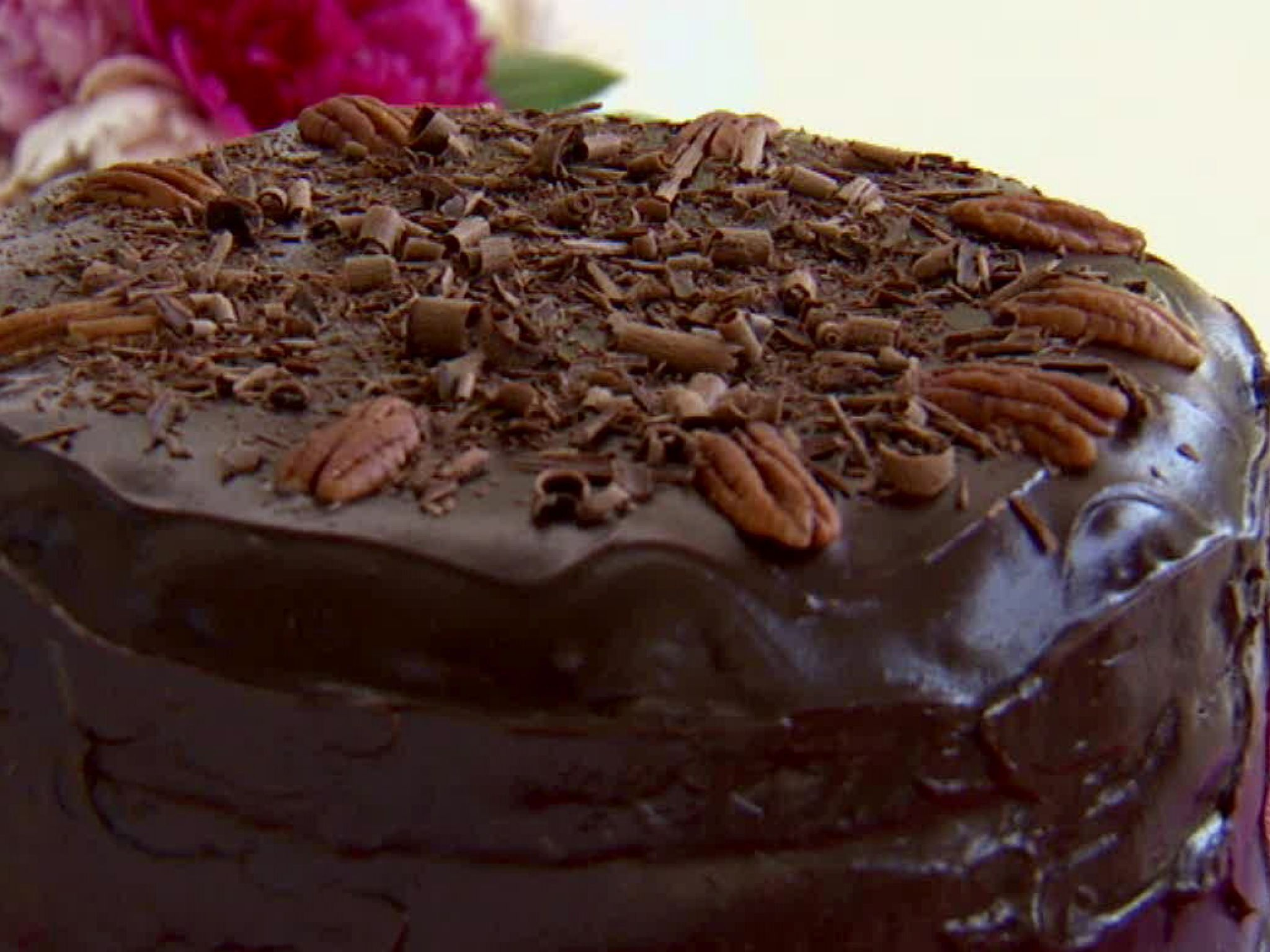 German Chocolate Cake With Coconut Pecan Filling Paula Deen Food Network Pecan Filling Recipe Filling Recipes German Chocolate Cake