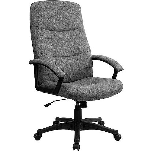 fabric upholstered executive high back swivel office chair swivel