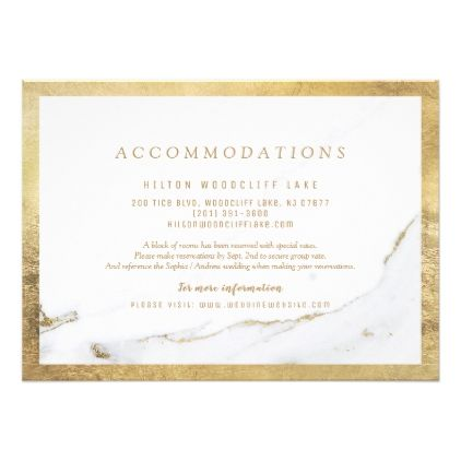 Faux gold foil marble modern wedding accommodation card faux gold foil marble modern wedding accommodation card cyo customize design idea do it solutioingenieria Images