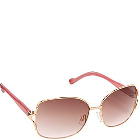 580b5a31a9 Jessica Simpson Rectangular Square Sunglasses - Rose Gold - via eBags.com!
