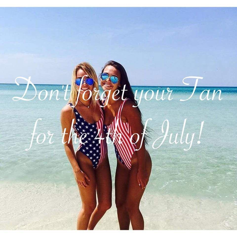It S Not Too Late To Schedule Your Spray Tan For All Of Your 4th Of July Plans Call Us Today To Schedule Your Appointm Tanning Salon Tanning Skin Care Tanning