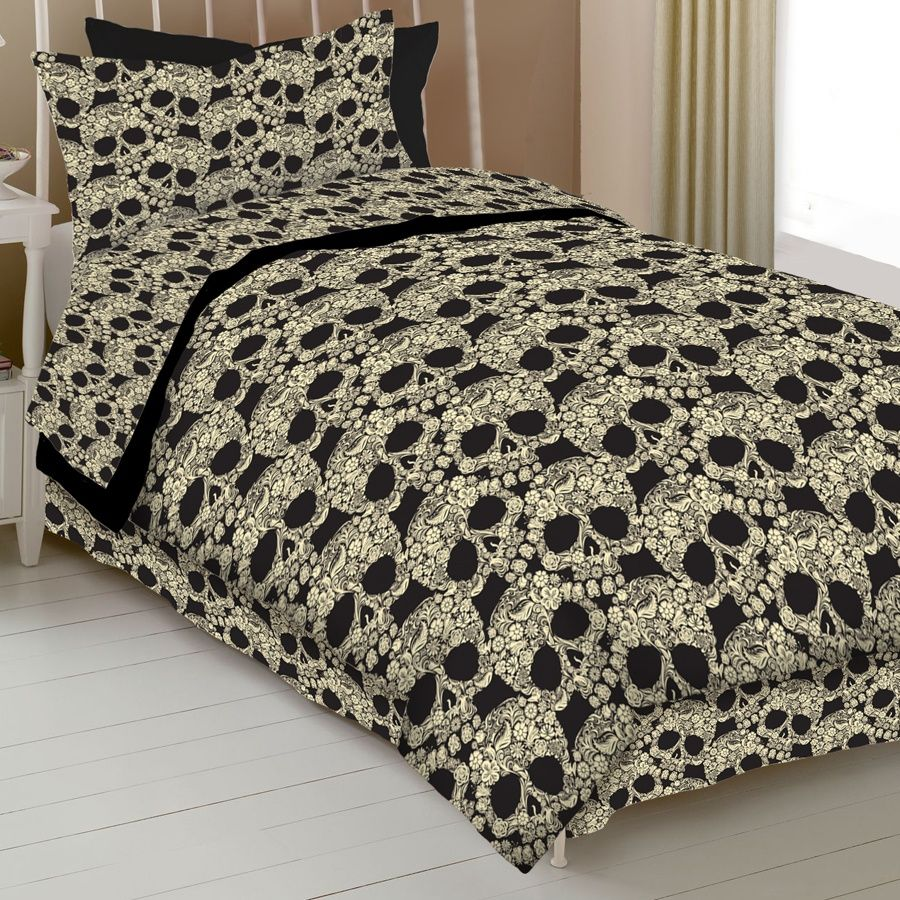 Flower Skull Comforter Comforter Sets Bedding Sets
