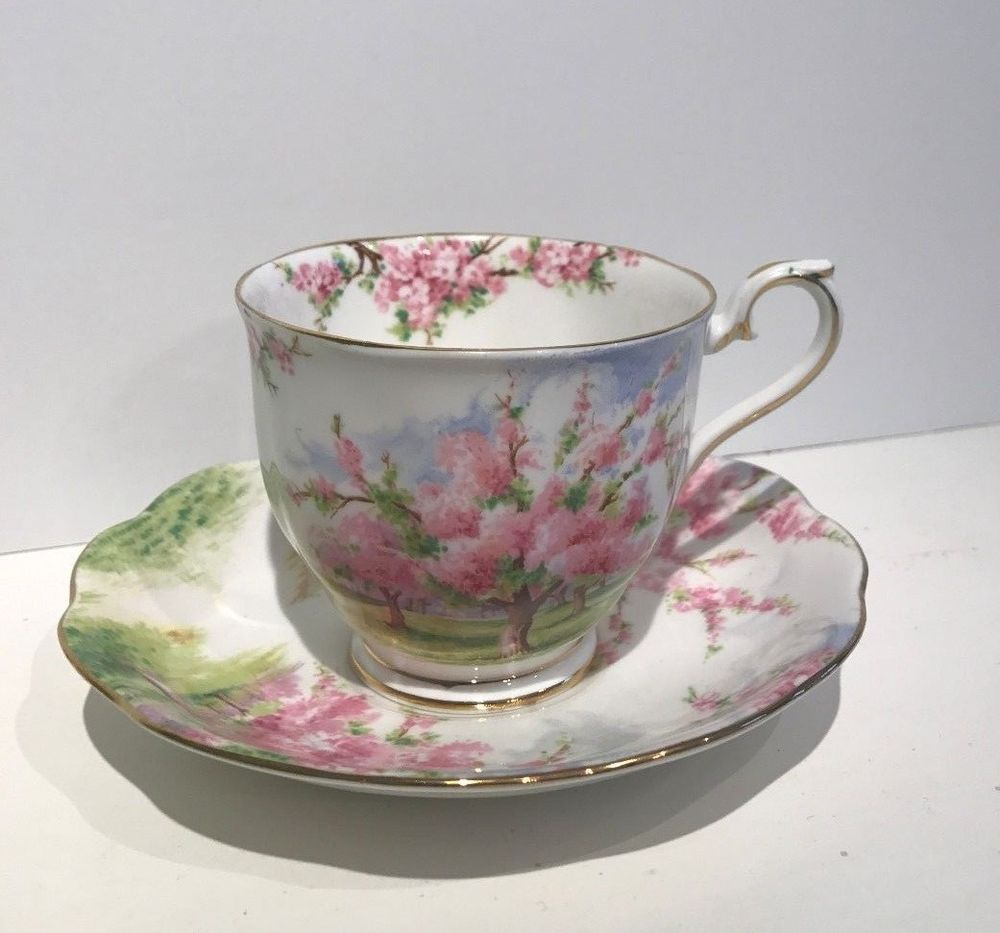 Royal Albert Blossom Time Fine Bone China Teacup And Saucer Royalalbert Tea Cups Fine Bone China Bone China