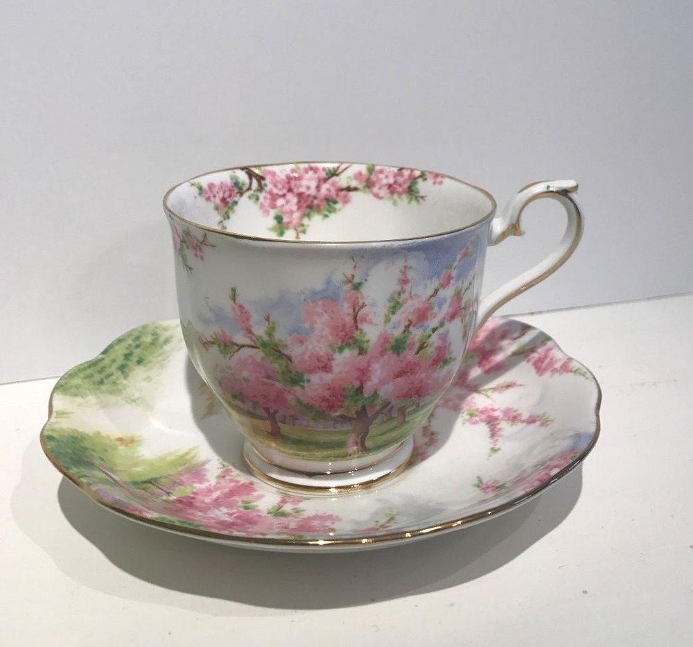 Royal Albert Blossom Time Fine Bone China Teacup And Saucer Royalalbert Tea Cups Fine Bone China Bone China