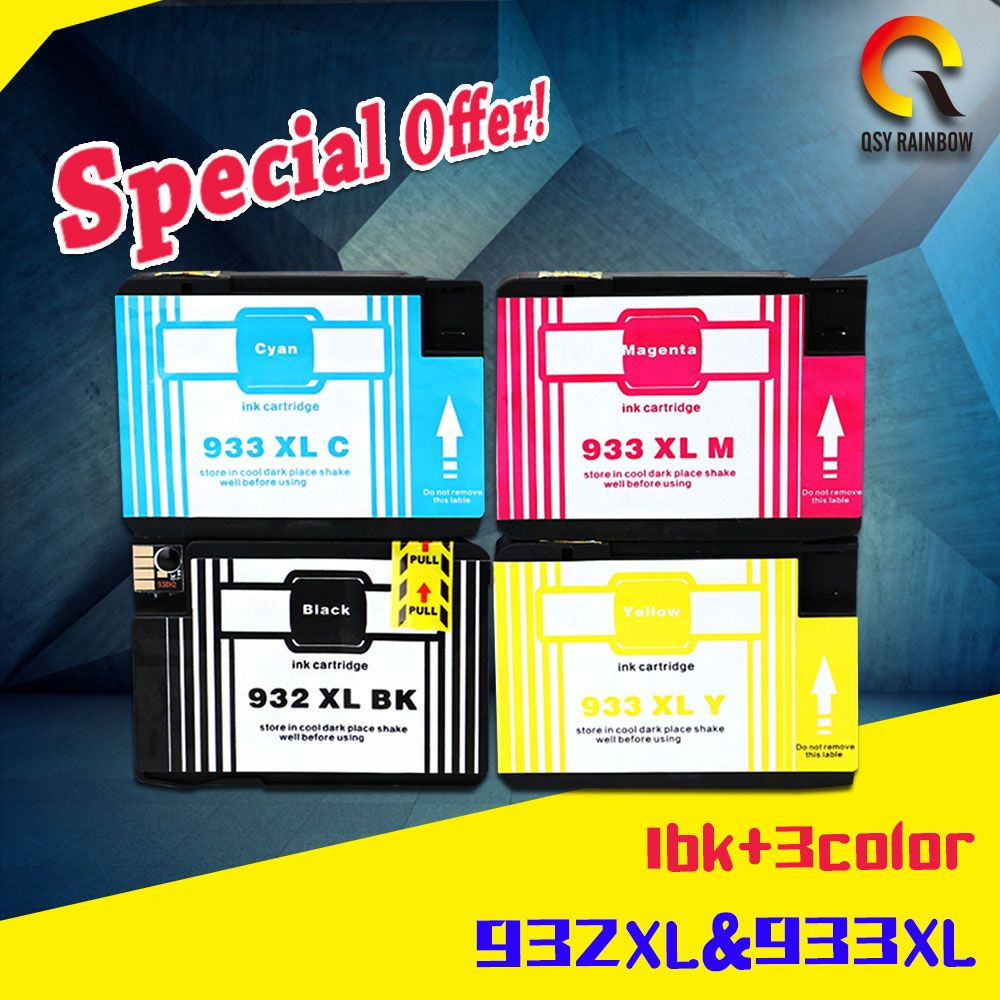 4 Wholesale Price Compatible Ink Cartridge For Hp 932 Xl 81 Yellow Designjet Dye Printhead And Cleaner Original Officejet Pro 6100 6600 6700