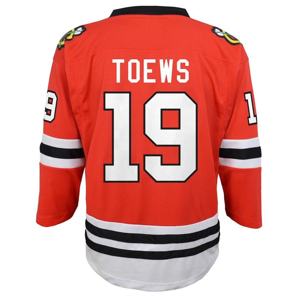 5a42164ddb8 Boys 8-20 Chicago Blackhawks Jonathan Toews Replica Jersey, Size: L/XL, Red