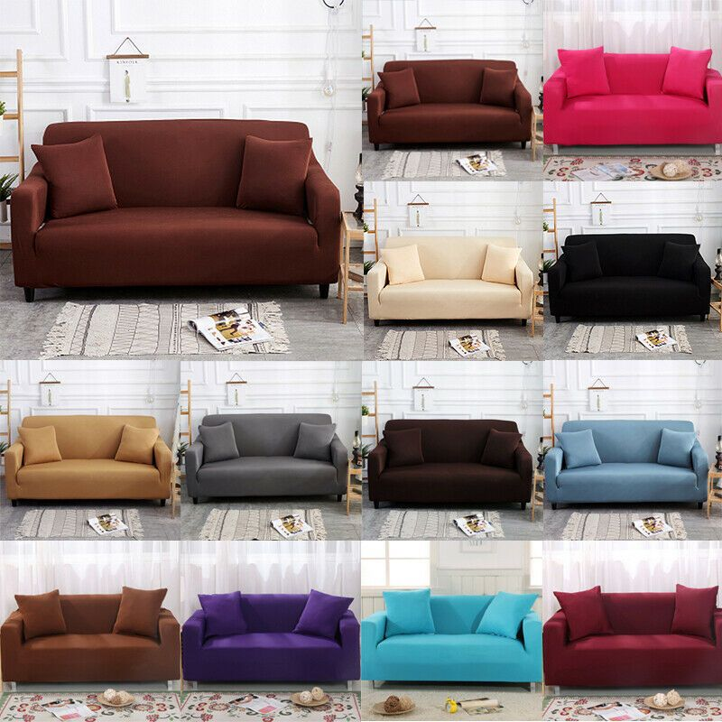 Sofa Slip Over Stretch Cover 1 2 3 4 Seater Protector Throw Thickening Embossing Sofa Throw Cover Love Seat Corner Sofa Slipcover