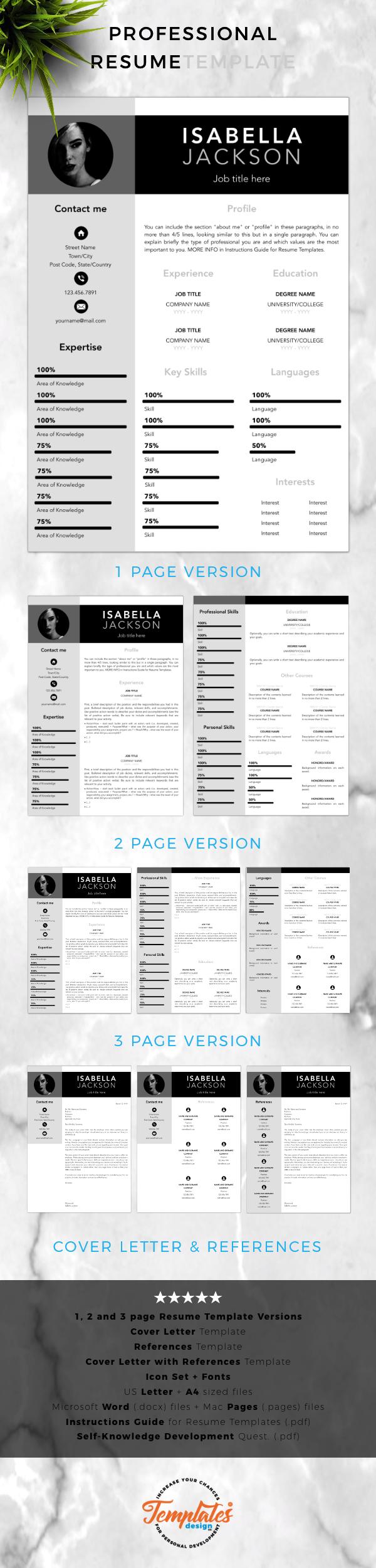 Bonus Letter Template Simple Resume Template  Cv Template  Professional Resume Template .