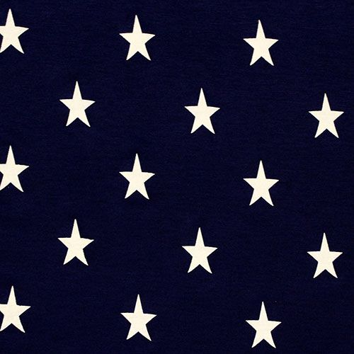 Vintage Stars On Navy Blue Cotton Jersey Blend Knit Fabric Vintage Look Stamped Stars On A Navy Blue Cott Indie Sewing Patterns Knitting Fabric Stores Online