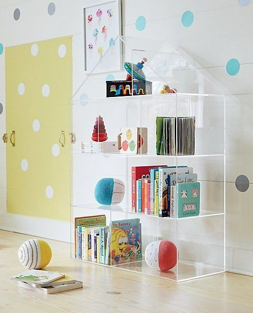 Acrylic House Bookcase Reviews Crate And Barrel With Images
