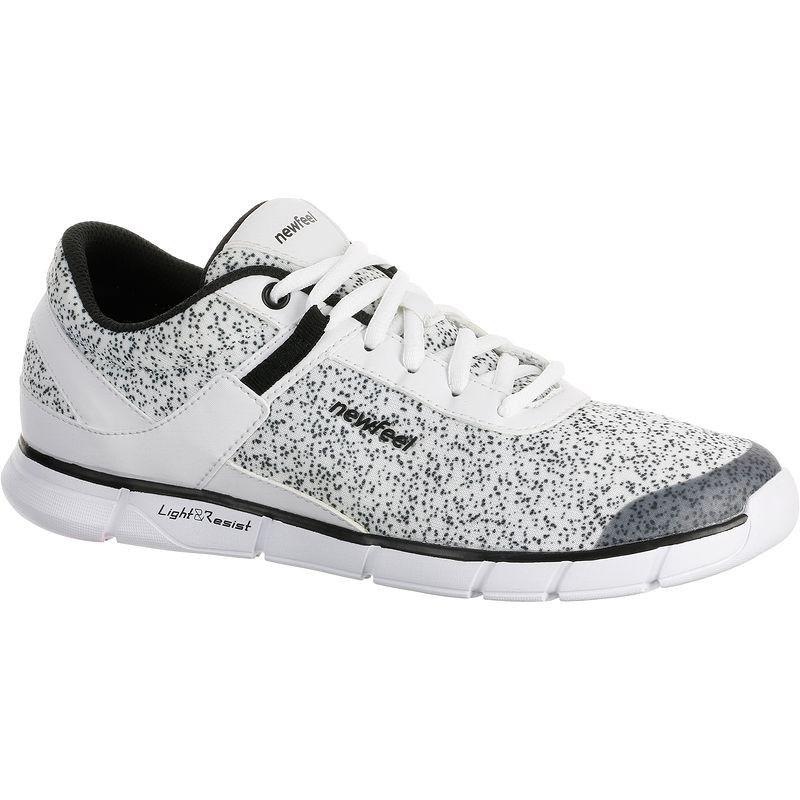 dbb5527fb3 Chaussures marche sportive femme Soft 540 blanc moucheté NEWFEEL