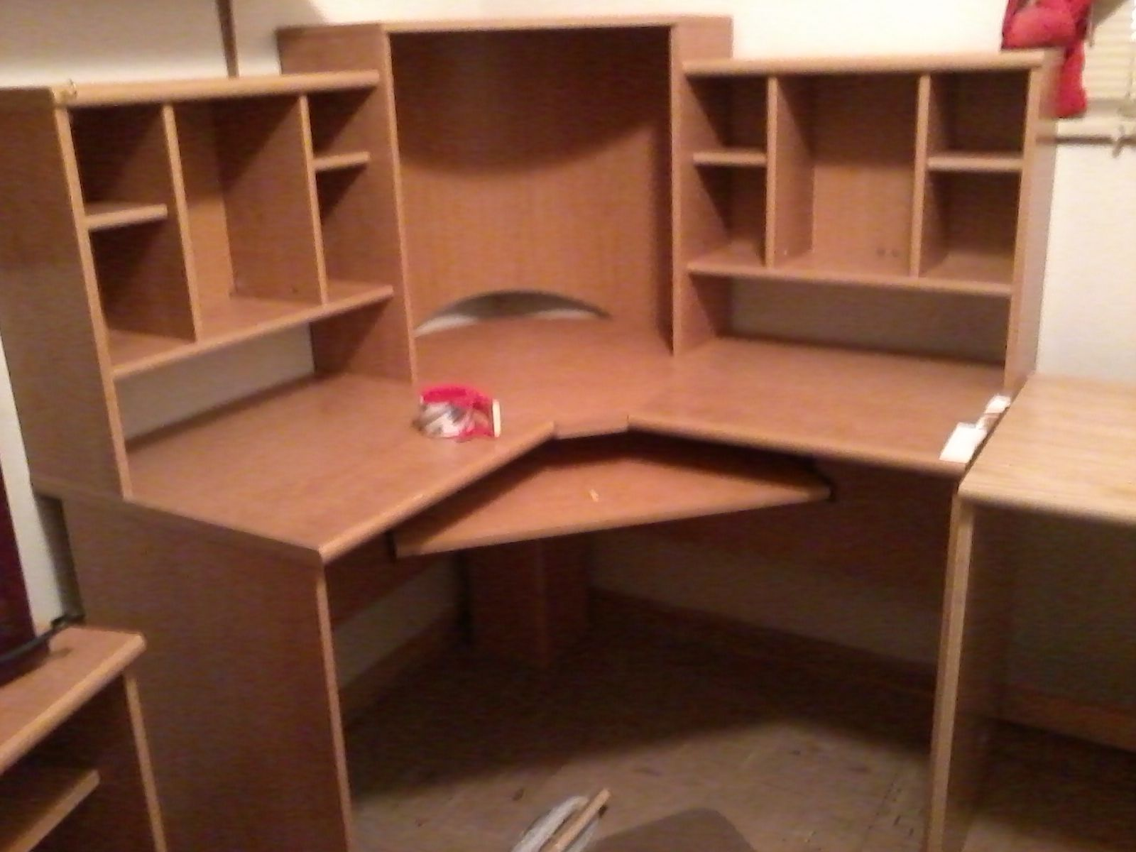 Large Corner Computer Desk In Katherine Weaver S Garage Sale Kenosha Wi Home Office Desks Corner Computer Desk Large Computer Desk