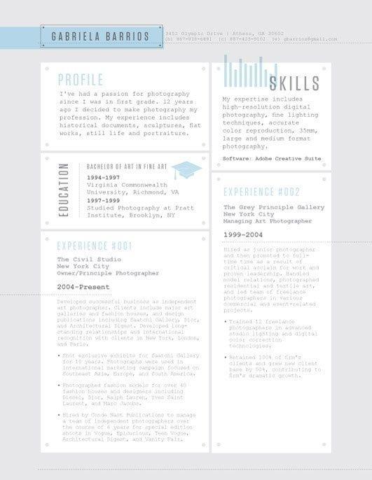 Resume in Resume Design Resume Pinterest Design resume