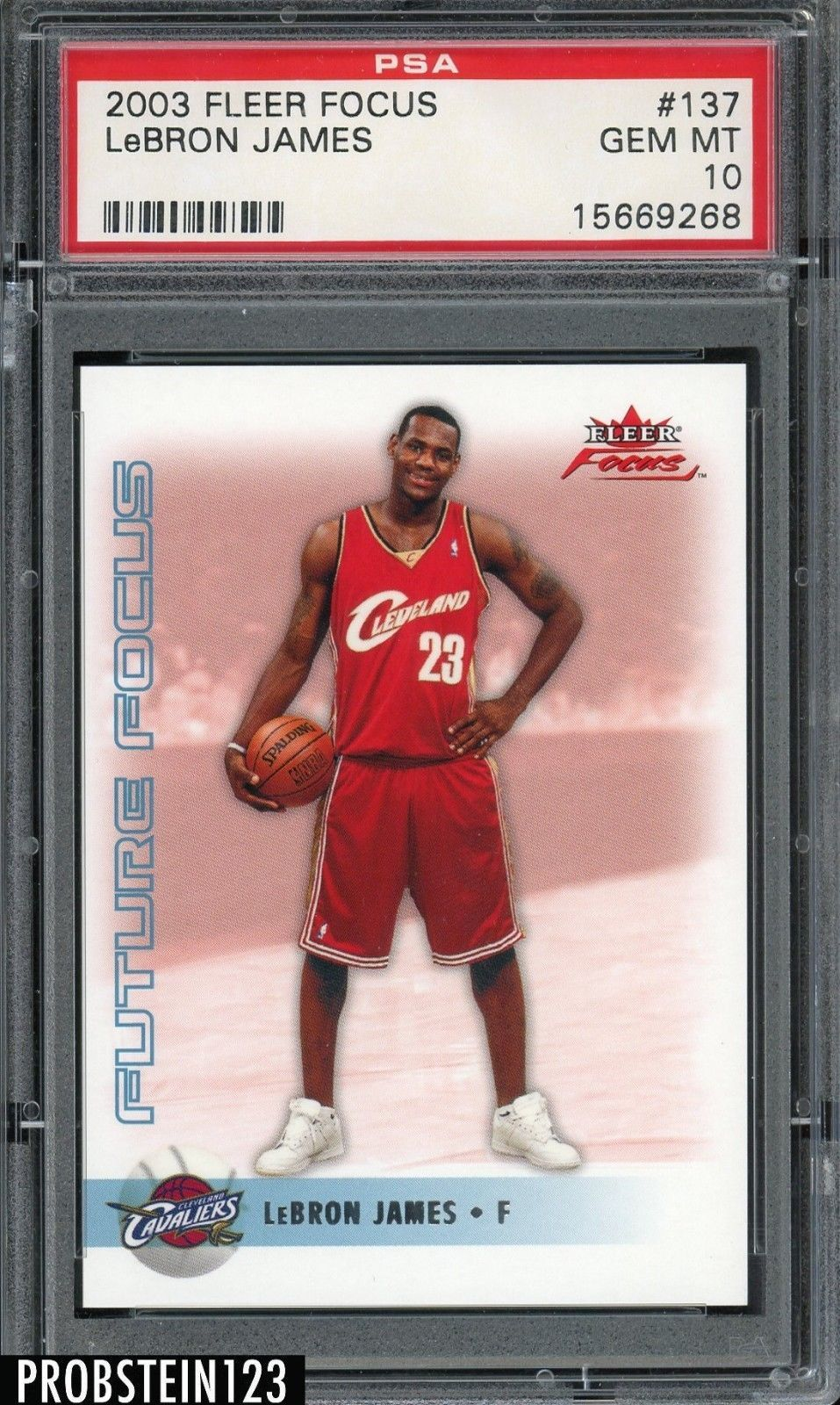 200304 fleer focus 137 lebron james cavaliers rc rookie