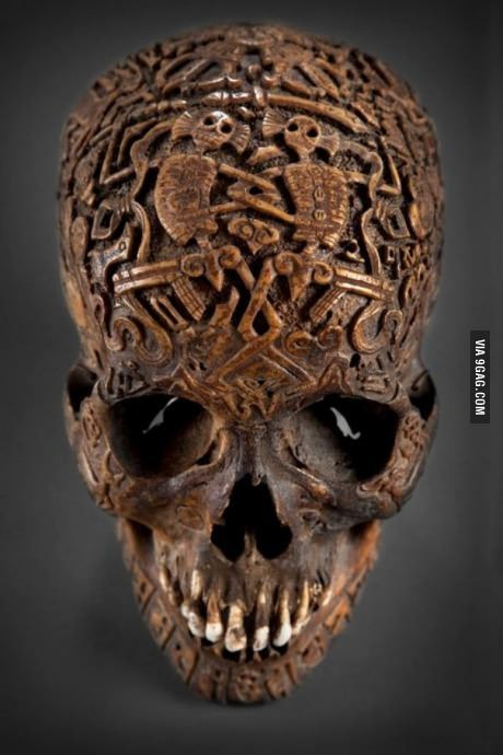 Awesome skull carving