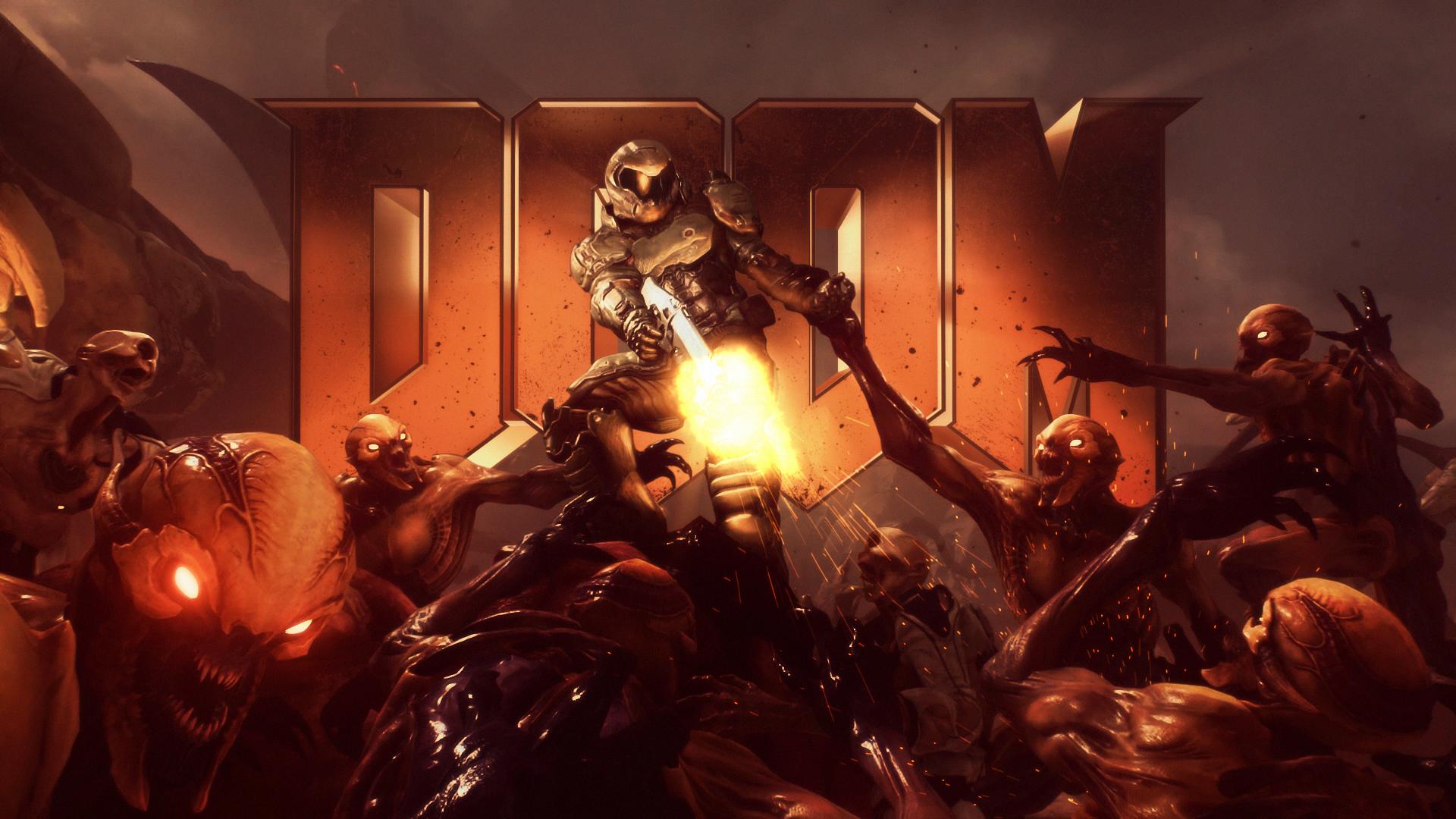 Classic Doom 2016 Wallpaper Doom 2016 Doom Videogame Doom Game
