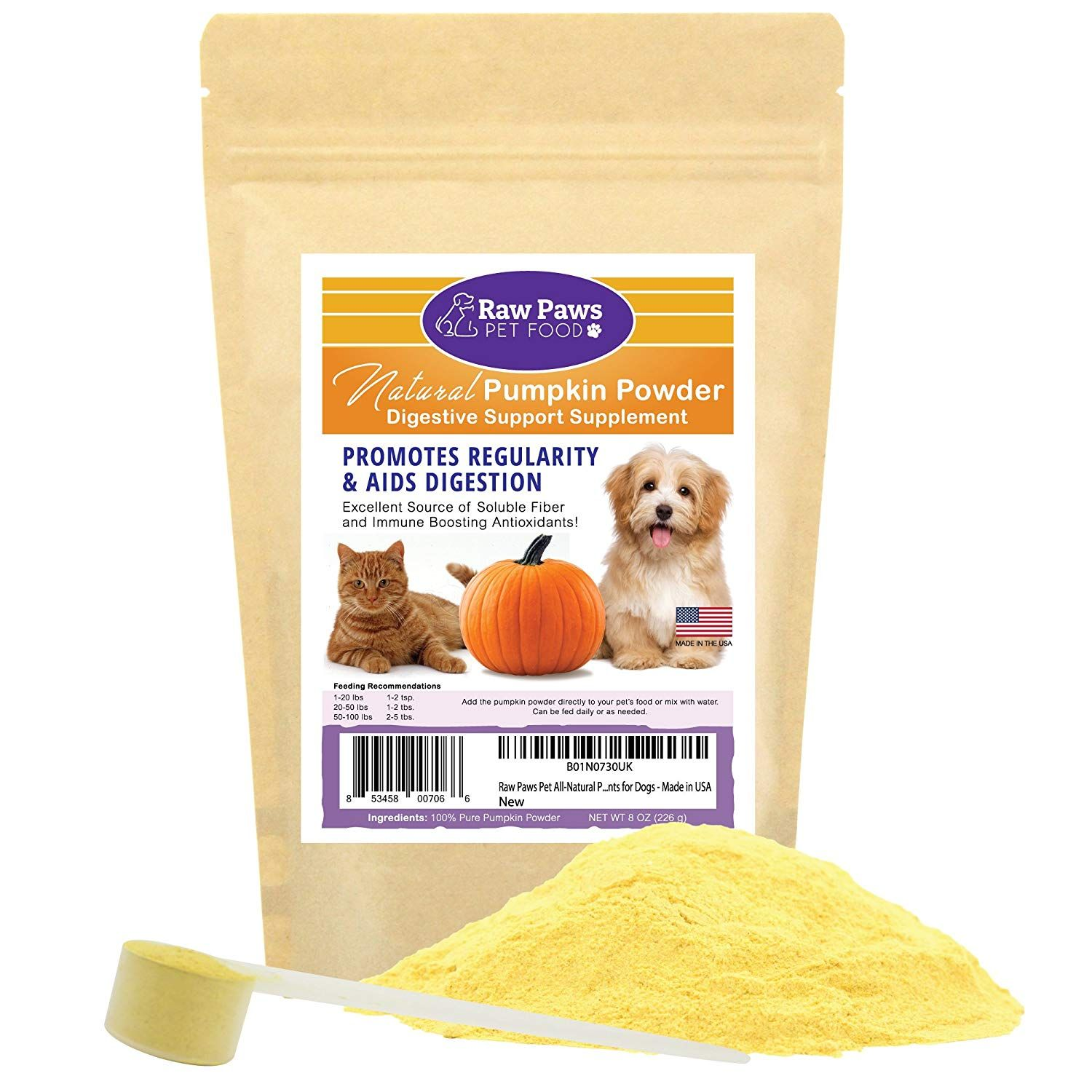 Raw Paws Pet Natural Pumpkin Powder Digestive Supplement For Dogs And Cats Fiber For Dogs Anti Di Digestive Supplements Fiber For Dogs Raw Dog Food Recipes