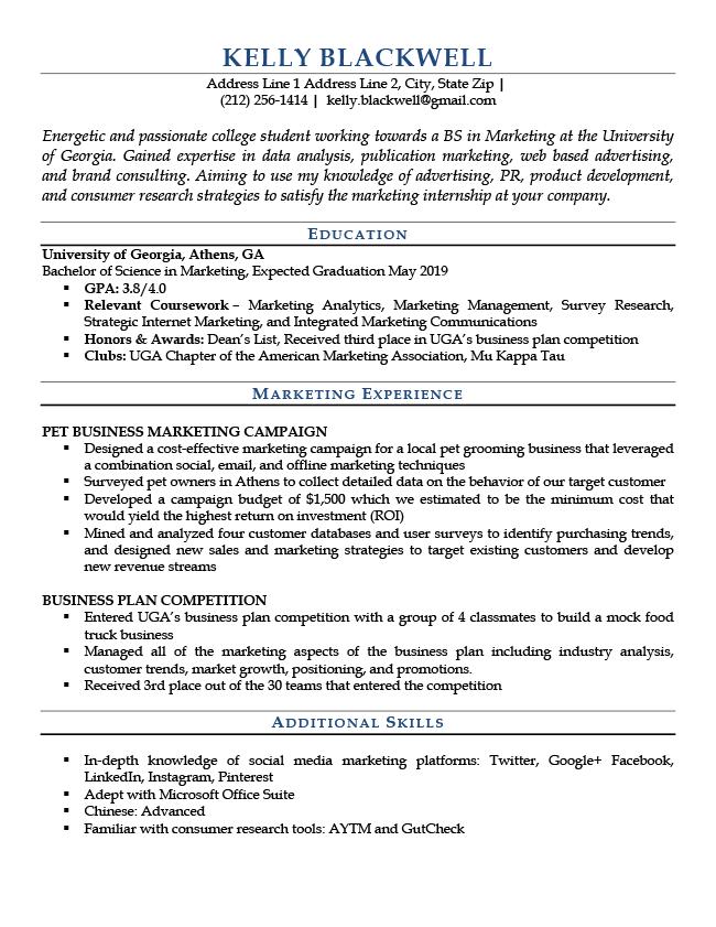 entrylevel blue  rg  job resume examples resume
