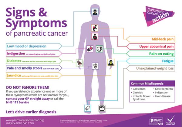 Neuroendocrine cancer back pain.