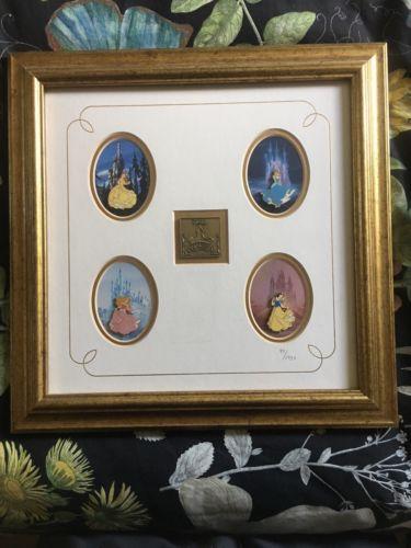 disney Disney Princess Framed Pin Set Belle Cinderella Sleeping ...