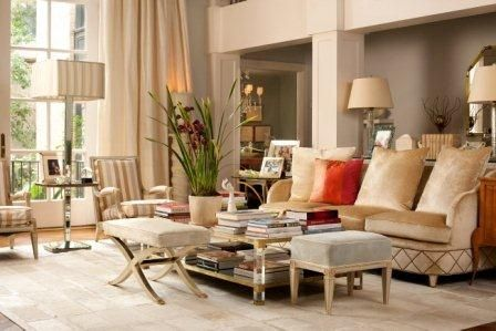 love the grey and neutral together with red