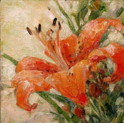 Tiger Lily Original art painting by Deb Kirkeeide ...