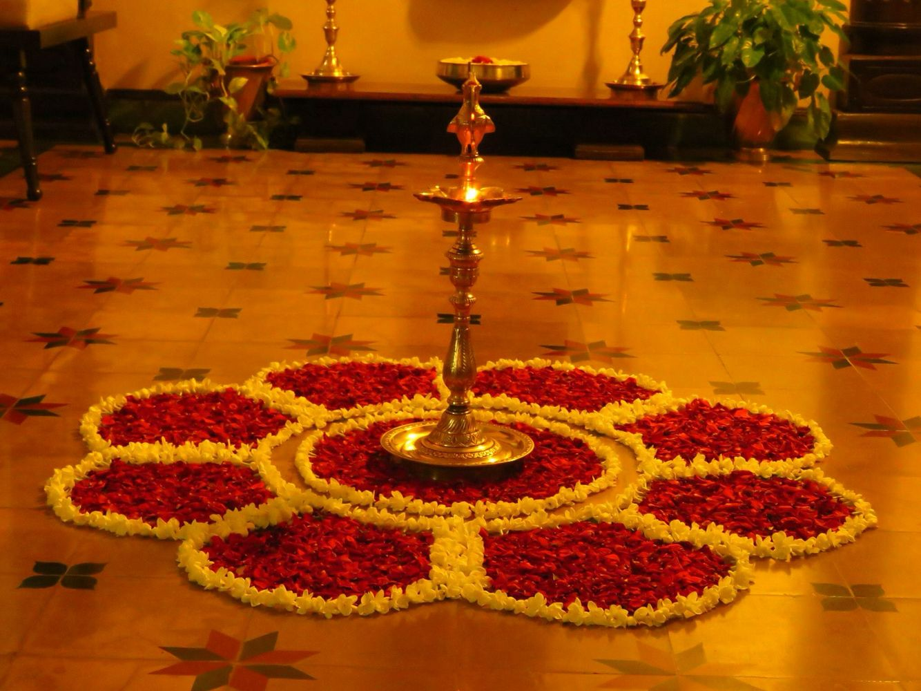 pookolam Diwali decorations at home, Rangoli designs