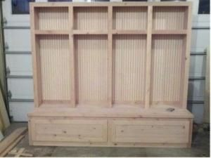 How To Build Mudroom Lockers By Eddie Mudroom Lockers Diy Storage Bench Mudroom Bench Plans