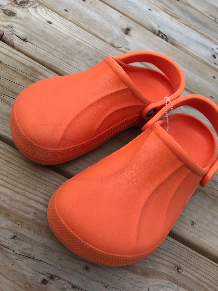 36ef56cb9f50a5 CROCS Orange Aspen Solid No Holes Clogs Shoes Men s 6 Women s 8 Slip On   Crocs  Clogs  orange  shoes