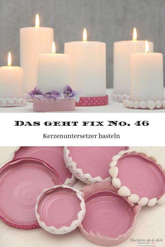 Das geht fix No. 46 – Kerzenuntersetzer basteln