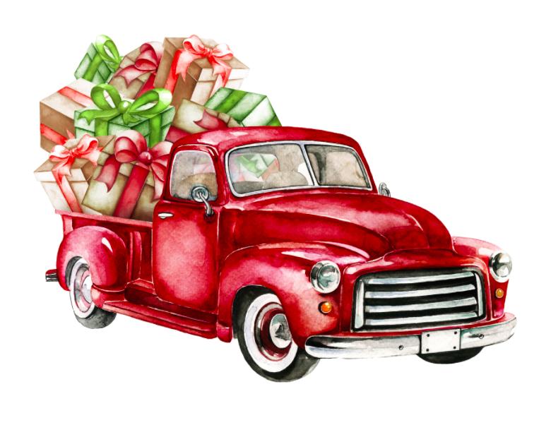 Scrappychicks On Vinyl Free Christmas Printables Christmas Printables Christmas Red Truck