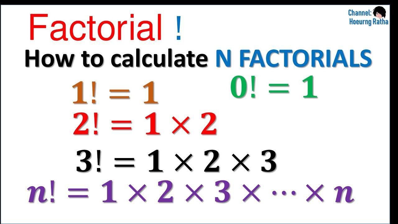 How To Calculate Factorials Calculator Mathematics Subtraction