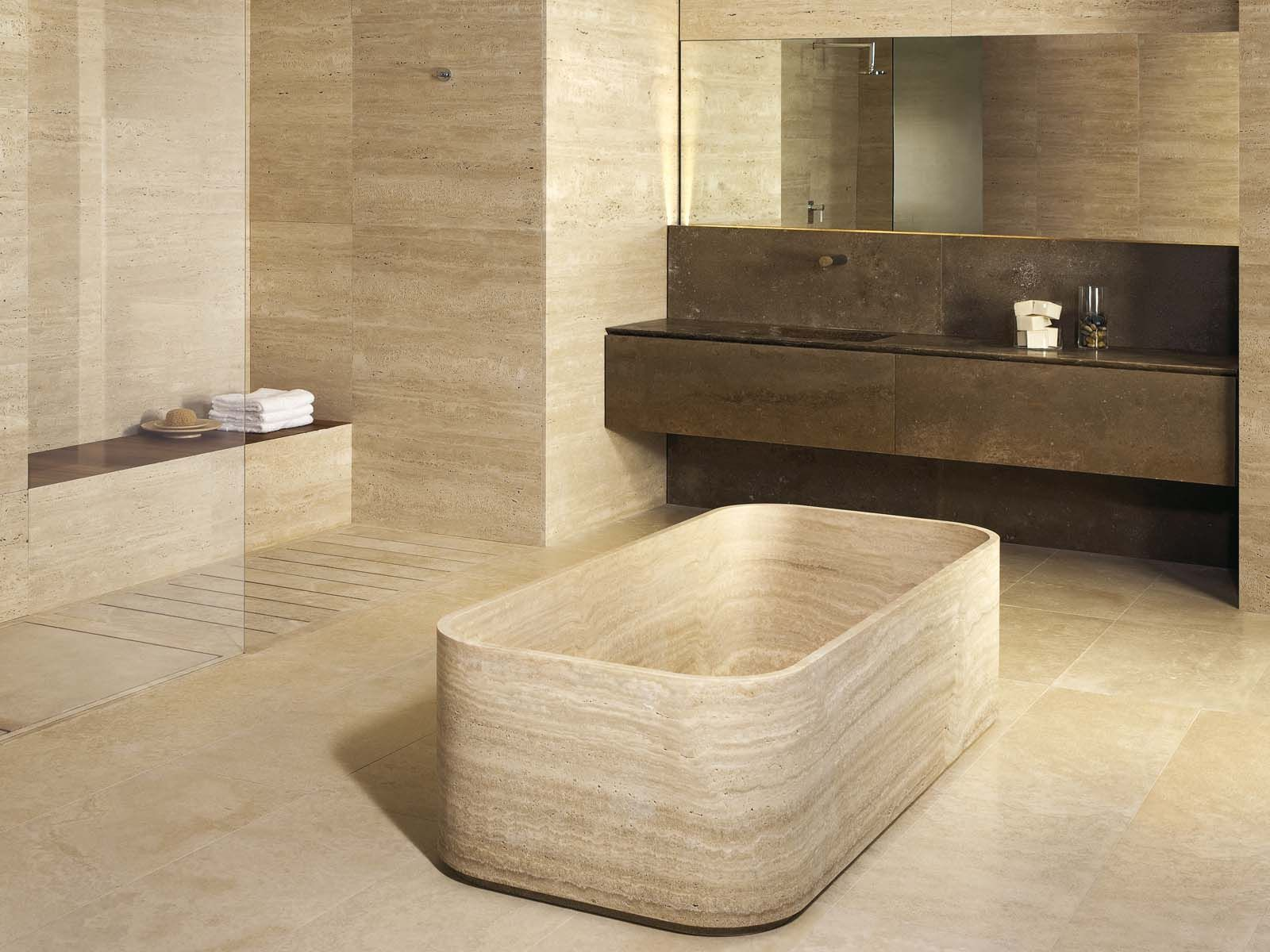 Badewanne Aus Stein Le Cave Bathroom System In Classico Travertine 43 Noce