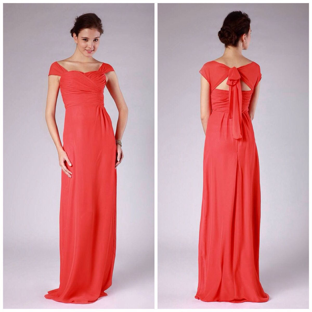 Plus size coral dress for wedding  Dark coral bridesmaid dress  Fashiondresses  Pinterest  Coral