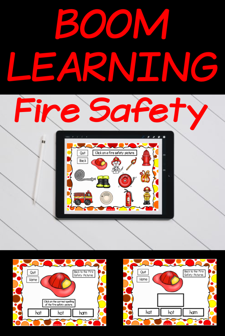 Boom Cards Fire Safety in 2020 Learning cards, First
