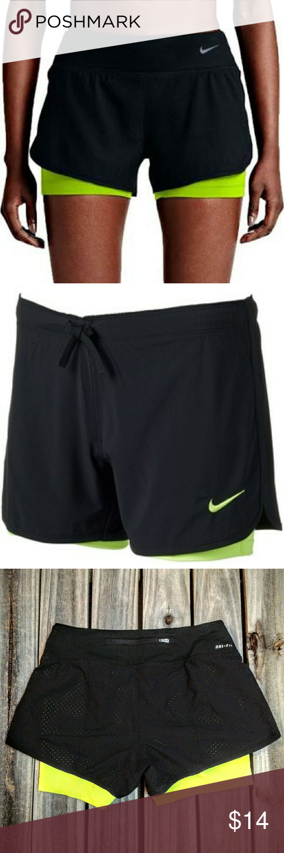 otro Instituto Disfraz  Nike Dry Fit Rival 2-in-1 running shorts XS black | Running shorts, Clothes  design, Gym shorts womens