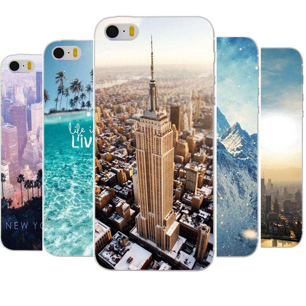 Para iphone 5 5s se caso trasero duro diseño empire state building de nueva york para el iphone 5 5s cubierta