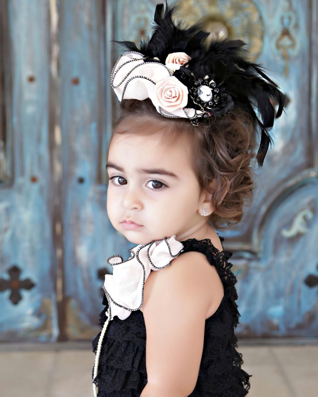 Girls Fascinator Fascinator Hat Black by PoshPeanutKids on Etsy ... 40dad80ddd3