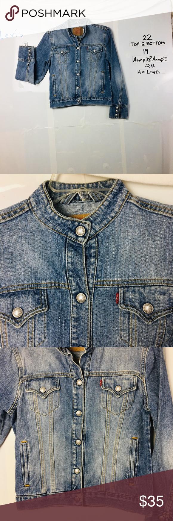 Levi S Collarless Denim Jacket Small Collarless Denim Jacket Collarless Denim Jacket [ 1740 x 580 Pixel ]