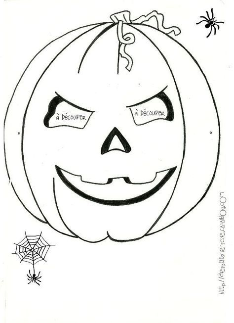 Masques d 39 halloween colorier imprimer des p - Masque halloween a colorier ...