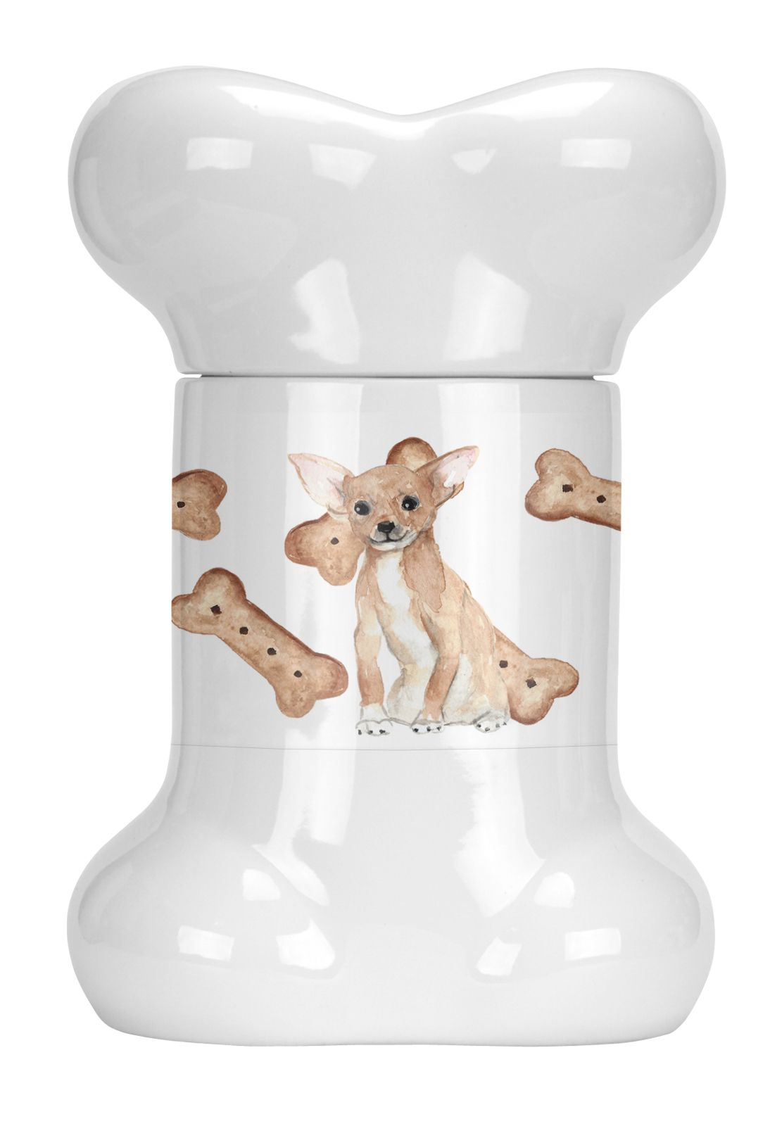 Chihuahua puppy bone shaped treat jar dog